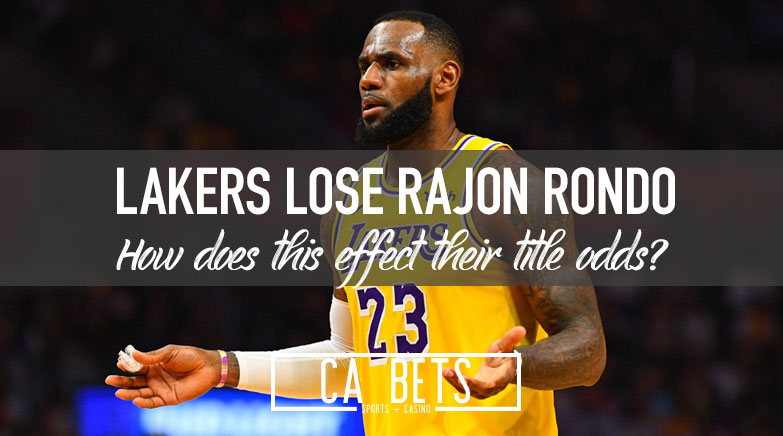Lakers Guard Rajon Rondo out 6-8 Weeks with Fractured Thumb; How does this affect Lakers Title Odds