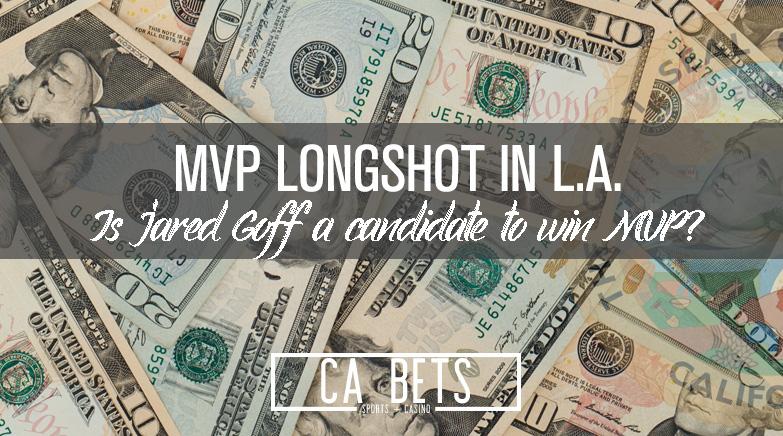 Jared Goff Longshot to Win MVP?