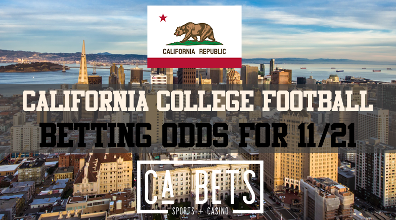 California College Football Betting Odds November 21st