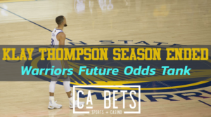 Klay Thompson out, future odds tank