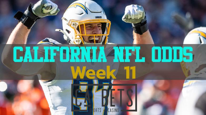 Week 11 California NFL Odds