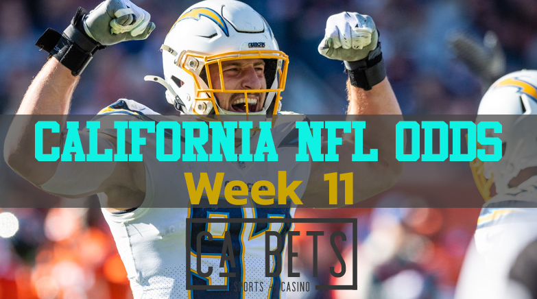 California Week 11 NFL Opening Betting Odds