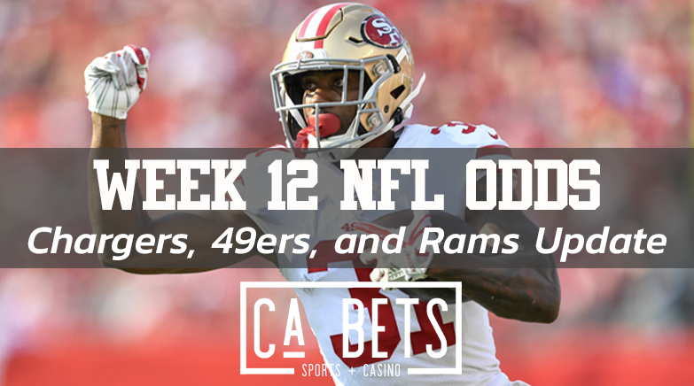 Week 12 California NFL Odds Update