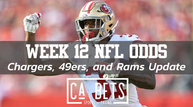 Week 12 California NFL Odds Update