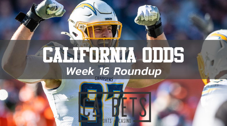 California NFL Odds Roundup Week 16