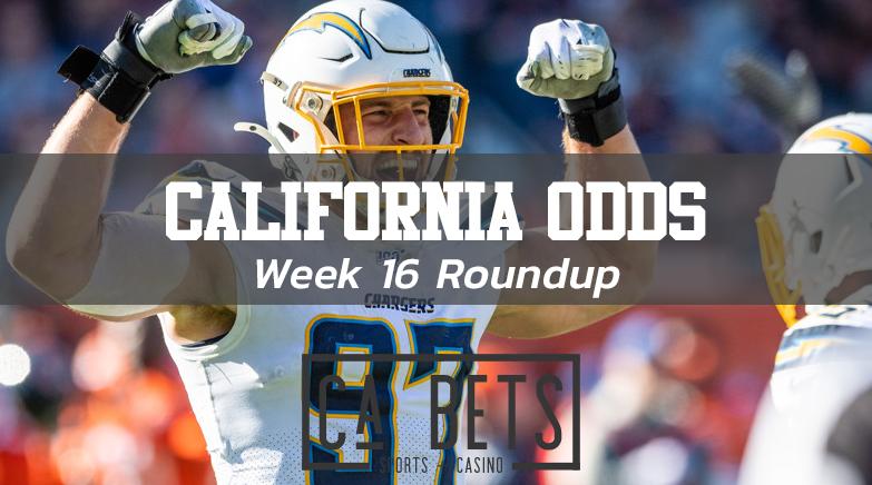 California NFL Odds Roundup Week 16