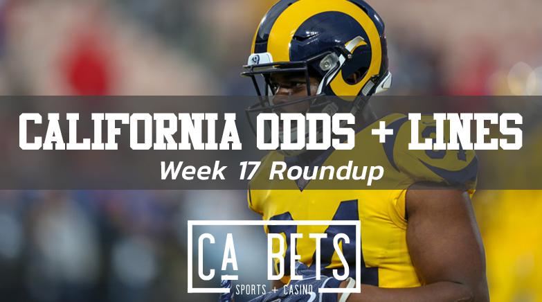 Week 17 NFL Odds California